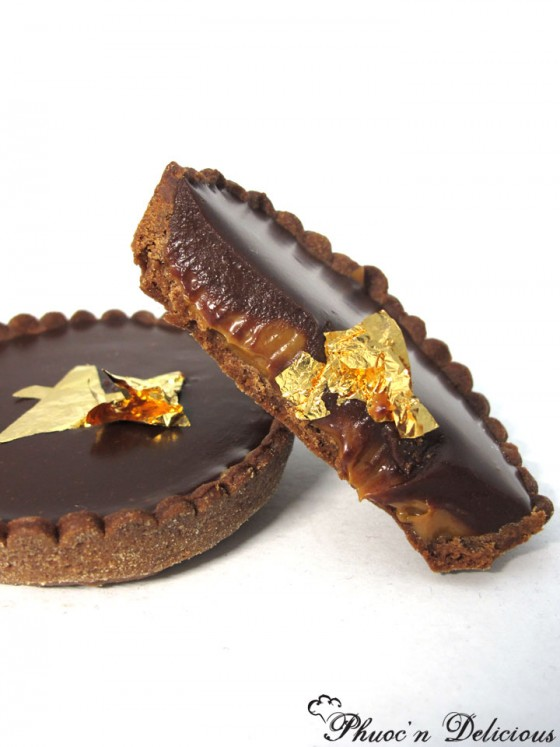 chocolate caramel tart from Phuocn Delicious