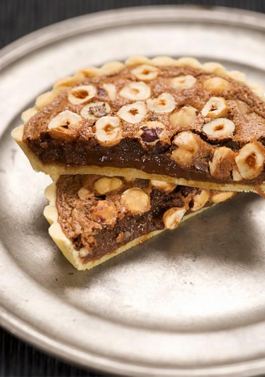 Chocolate Hazelnut Tart Scented With Orange Recipe — Dishmaps